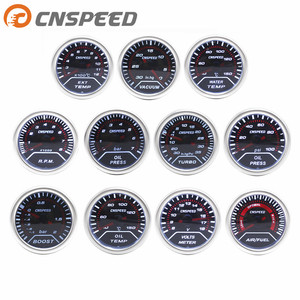 "CNSPEED 2"" 52mm Car boost gauge bar psi Exhaust gas temp water temp oil temp oil press Air fuel gauge voltmeter tachometer(China)"