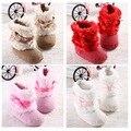 2016 Новая Мода Супер Теплая Зима Детские Лодыжки Снегоступы Детская Обувь Хаки Противоскользящие Согреться Детская Обувь Первые Ходоки
