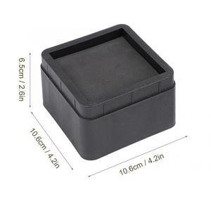 Image 5 - 4 шт. прочные складывающиеся подстилки для кровати, Черные Квадратные ножки для мебели, напольные подножки, защитные подстилки для пола, защитные накладки для пола, мебель