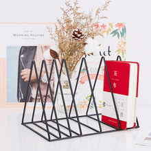 New creative desktop bookshelf  ins wrought iron small Simple finishing storage