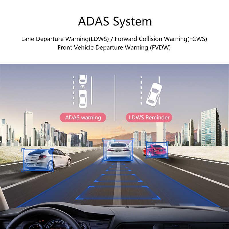 """جانسايت 4G 10 """"شاشة تعمل باللمس جهاز تسجيل فيديو رقمي للسيارات داش كام أندرويد 5.0 لتحديد المواقع الملاحة سيارة مسجل فيديو نظام ADAS كاميرا الرؤية الخلفية مرآة"""