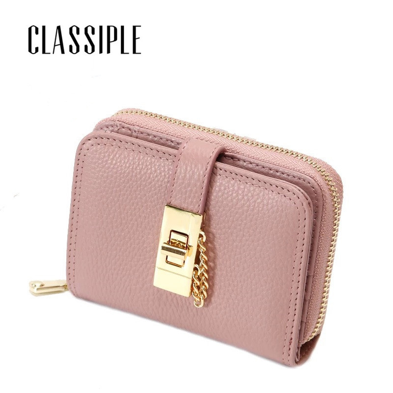 Wallet Women Small Cow Leather Mini Short Wallets ID Card Holder Wallet Coin Purses Real Leather Wallets for Lady Clutch Female new fashion leather small lady wallets women coin purse short with card holder vintage girls wallet mini purses best gift 500835