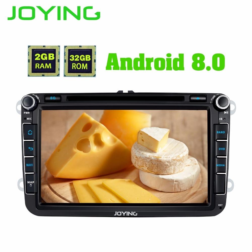 JOYING 2 gb Android 8.0 autoradio con il GPS BT lettore 8 core unità di testa per VW POLO/JETTA /SKODA/Octivia/SuperB DVD registratore a Nastro