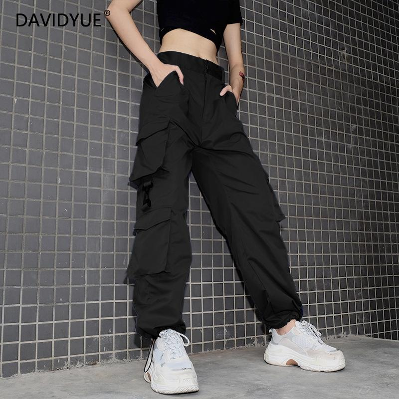 BLACK CARGO PANTS, Women's Fashion, Clothes, Pants, Jeans ...  |Black Cargo Pants For Girls
