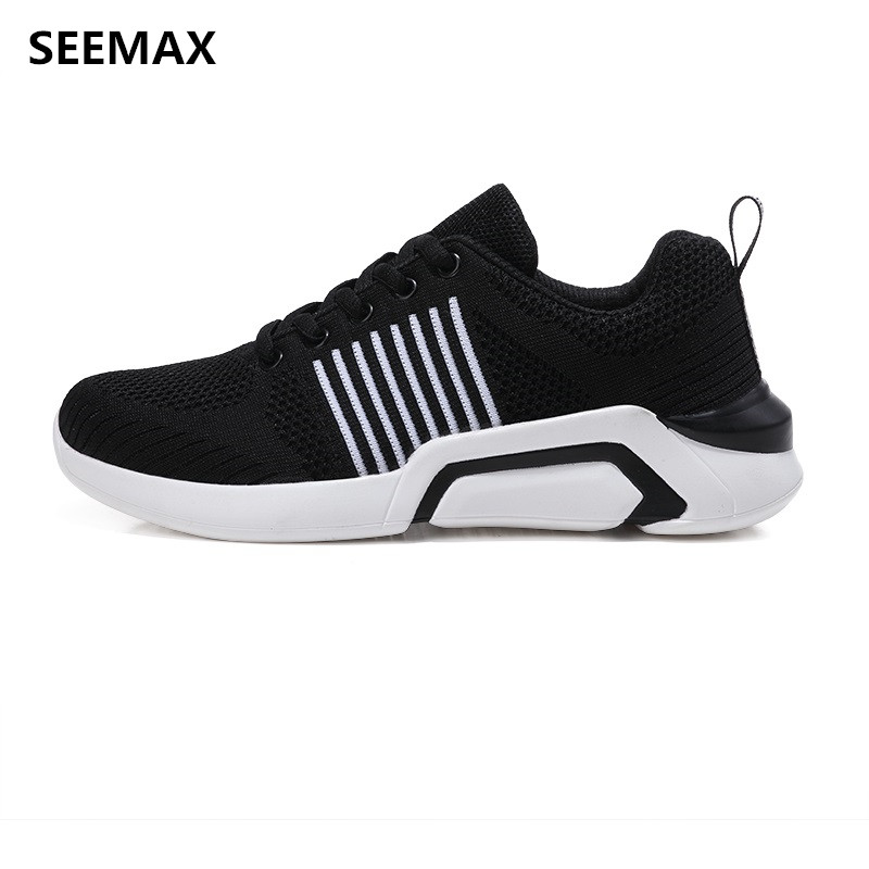 SEEMAX Running Shoes Adult Woman Lightweight Breathable Mesh Sports Cheap Sneakers Stability Size 35-41