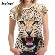 NOISYDESIGNS camiseta mujer camiseta 3D estampado Animal leopardo Tigre camiseta mujer camiseta Casual Cool camiseta K- de moda pop(China)