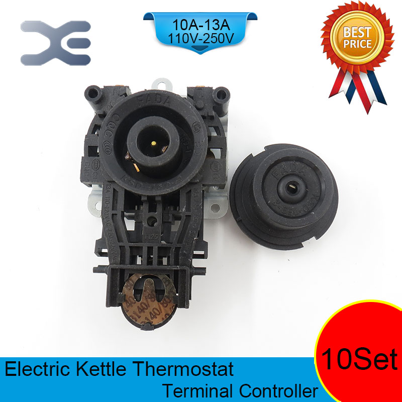 10set/lot T125 13A 110-250V NC Terminal Controller New Kettle Thermostat Unused Spare Parts for Electric Kettle EK1703 цена и фото
