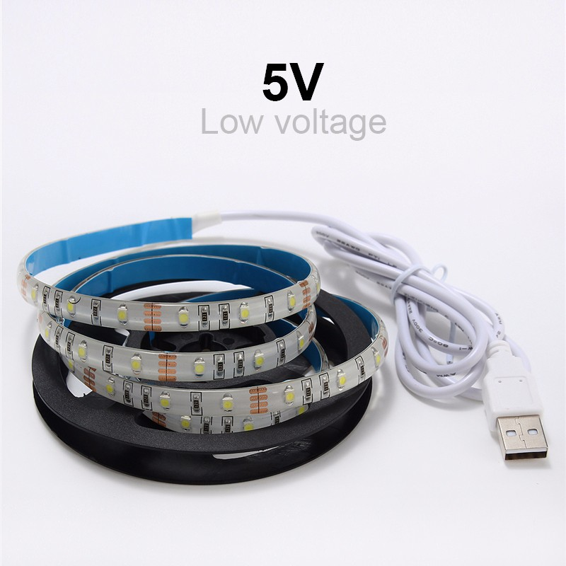 Waterproof/Non Waterproof DC5V USB SMD 3528 6 Colors 0.5M/1M 30/60 LEDs Strip Light TV Background Computer