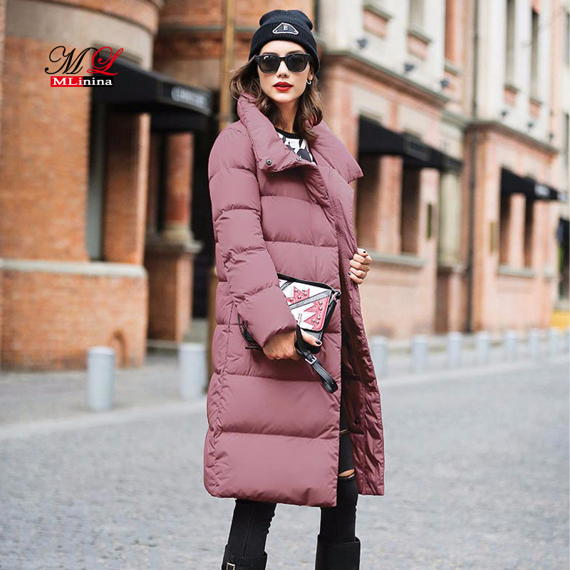 MLinina 2018 New Winter Women Coat Jacket Warm High Quality Woman Duck Down   Parka   Female Thickening Big Plus Size Outerwear