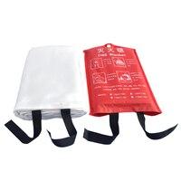 1 м X 1 м противопожарное одеяло из стекловолокна противопожарное средство аварийное спасение белый пожарный приют Защитная крышка в случае ...