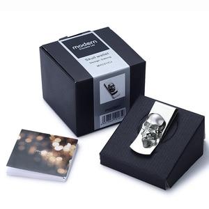 Image 5 - מודרני חדש לגמרי 2020 גולגולת עיצובים גברים רסיס כסף קליפ Slim כיס ארנק מזומנים מחזיק כרטיס ארגונית גברים נשים ארנק