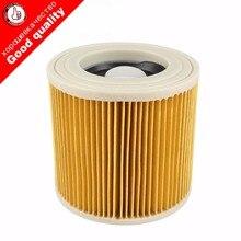 Высочайшее качество замена воздуха пыль мешки фильтры для Karcher Пылесосы части HEPA фильтр-картридж WD2250 WD3.200 MV2 MV3 WD3