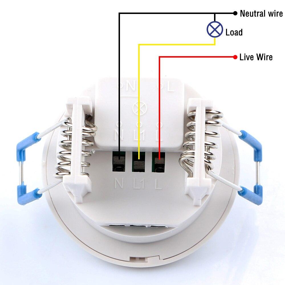 1pc 12v 220v Mini Adjustable 140 360 Degree Ceiling Pir Infrared Motion Sensor Light Switch Wiring Diagram Small Body Lamp 15162419951860 15162419953057 15162419968996 15162419966246 15162419967166