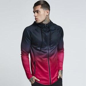 Image 5 - Mens 3d Hoodies Zipper Casual Tracksuit Pocket Hooded Sweatshirt Men 2018 Black Red Purple Gradient Streetwear Hip Hop Hoodie
