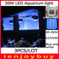 3pcs/lot High quality 50W Led Aquarium Coral Reef Tank Light Dropshipping by DHL