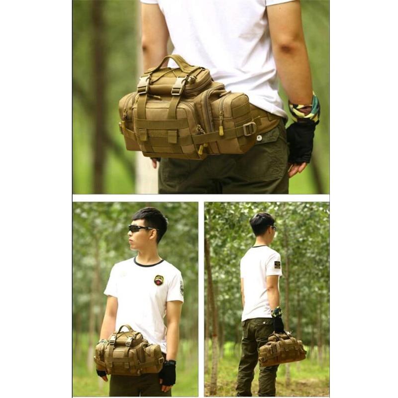 лучшая цена Military men travel 1680 d nylon big Waist pack inclined shoulder bag multi-purpose super SLR camera pocket the female bag