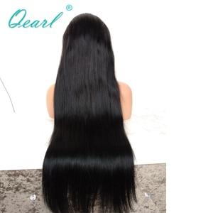 Image 5 - 제트 블랙 1 # 컬러 인간의 머리카락 전체 레이스 가발 베이비 헤어 130% 150% 스트레이트 가발 레미 헤어 사전 뽑아 자연 헤어 라인 qearl