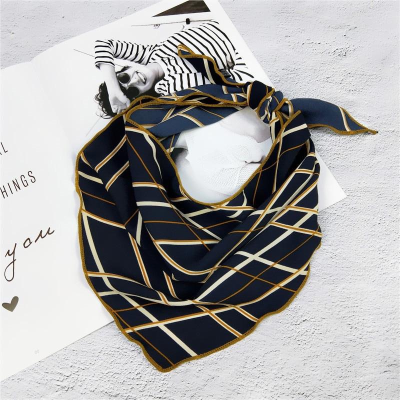 35*85cm Kerchief Triangle Scarf Muffler Bandana Foulard Female Neckerchief Small Bandana Hair Tie Band Scarves Wholesale