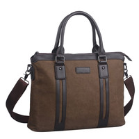 Lucky 2015 Gold Brand Men S Handbags 100 High Quality Canvas Business Office Bag One Shoulder