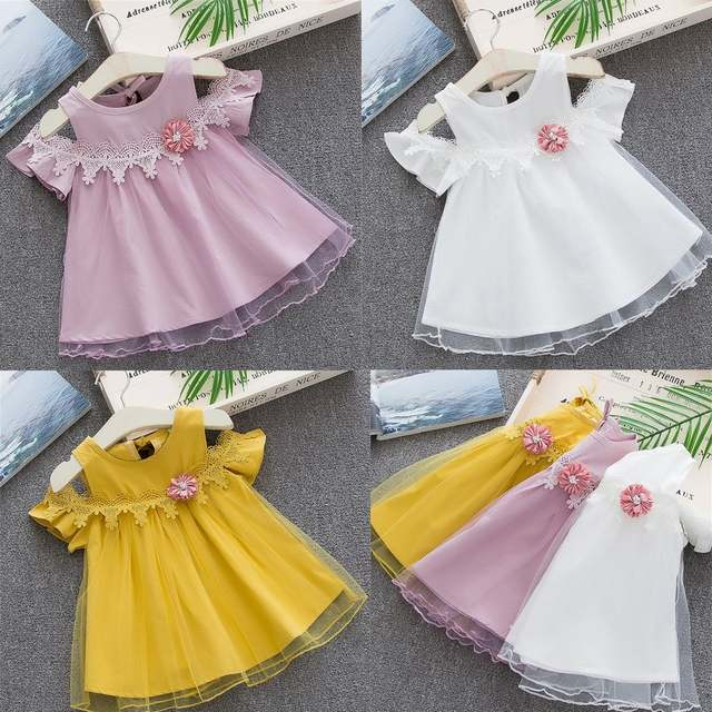 068be990137af MUQGEW Toddler Baby Girls Dress Solid Off Shoulder Tulle Dresses For Girl  Children Clothes Floral Party Princess Dresses Vitisdo