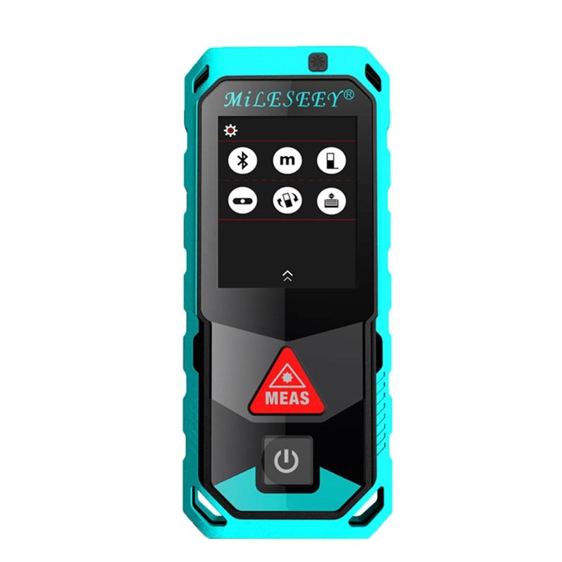 все цены на MILESEEY Laser Rangefinder T7 40m 60m 80m 100m laser meter bluetooth infrared distance sensor laser measurer