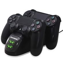 Gamepad شحن سريع PS4 قفص الاتهام المزدوج وحدات تحكم شاحن شحن محطة حامل قاعدة حامل ل PS4/برو/سليم