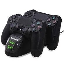Gamepad Schnelle Lade PS4 Dock Dual Controller Ladegerät Ladestation Stand Halter Basis für PS4/Pro/Schlank