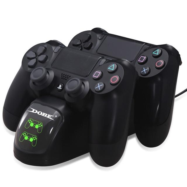 Gamepad chargement rapide PS4 Dock double contrôleurs chargeur Station de charge support Base pour PS4/Pro/Slim