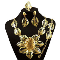 Nigerian Wedding African Jewelry Sets Fashion Dubai Gold Jewelry Sets For Women Costume Design