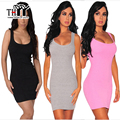 THYY White/Black Tank Women Sundress 2017 Vestidos Summer Slim Women Bandage/Bodycon Dress Sexy Woman Tight  Mini Dress C001