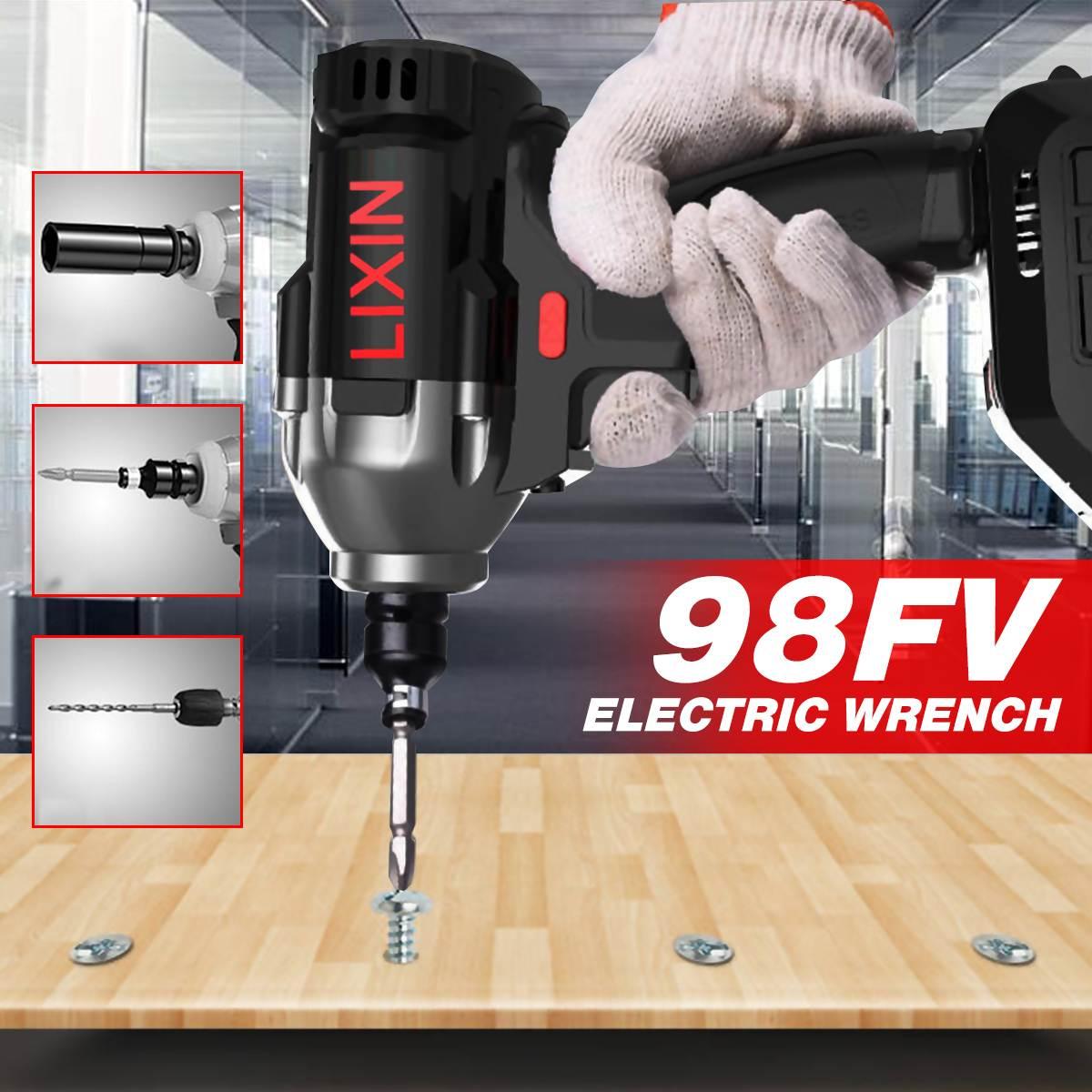 98VF 1/2 ''Беспроводная перезаряжаемая Li on электрическая отвертка ударная головка для дрели для ремонта автомобильных шин гаечный ключ электро