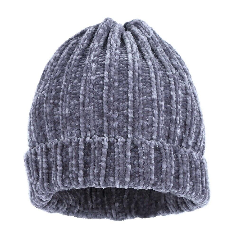 Donne di marca cappello di inverno beanie lavorato a maglia della  protezione della ragazza di strass moda di lusso cappelli termici chiaro  perline warmer ... 66bfa8ff9fdb