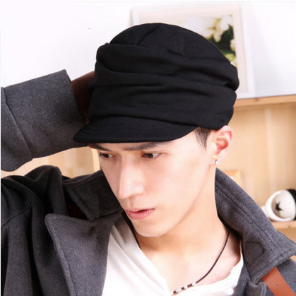 free shipping 2017 The male cap is pleated with fashionable braided spring and autumn winter hats