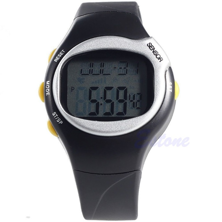 New Sports Running Pulse Heart Rate Monitor Pedometer Calories Counter Wrist Watch