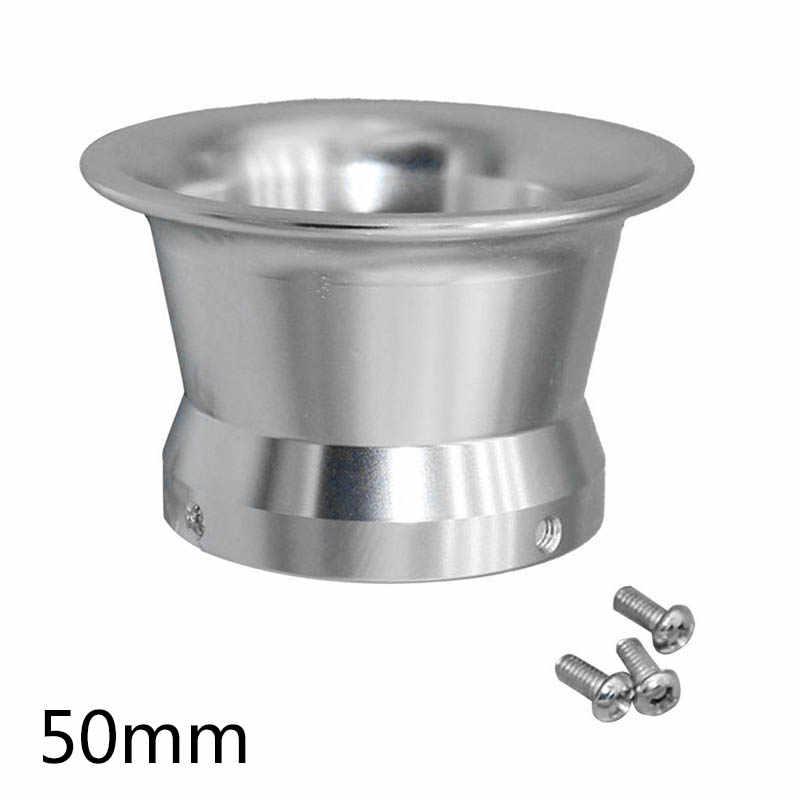 50mm คาร์บูเรเตอร์กรองอากาศแตรลมถ้วย w/สกรูสำหรับ Keihin OKO KOSO PWK24-30 อลูมิเนียมเงิน