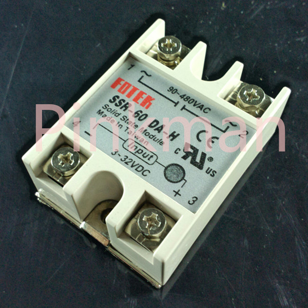 1 pc FOTEK 60DA-H Solid State Relay SSR Single Phase DC-AC single phase solid state relay 220v ssr mgr 1 d4860 60a dc ac