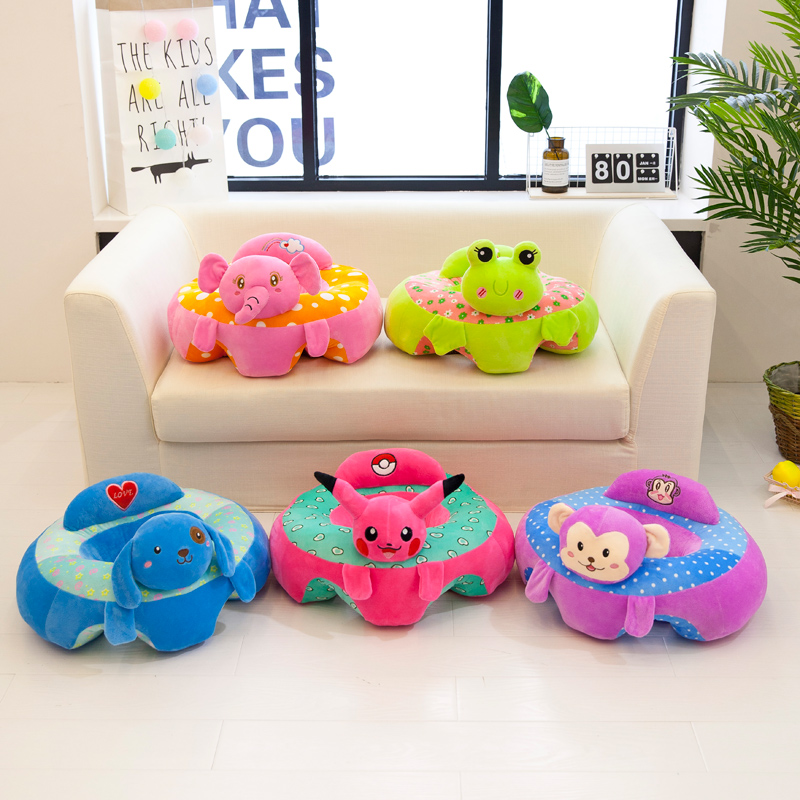 Baby Cartoon Animal Bebe Support Seat Sofa Baby Learning To Sit Chair Comfortable Pillow Cushion Travel Car Seat Sit Cushion