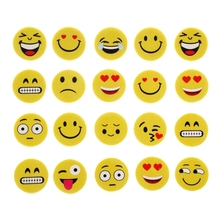 4pcs Emoji Smile Erasers Rubber Eraser Assorted Stationery School Study Gifts