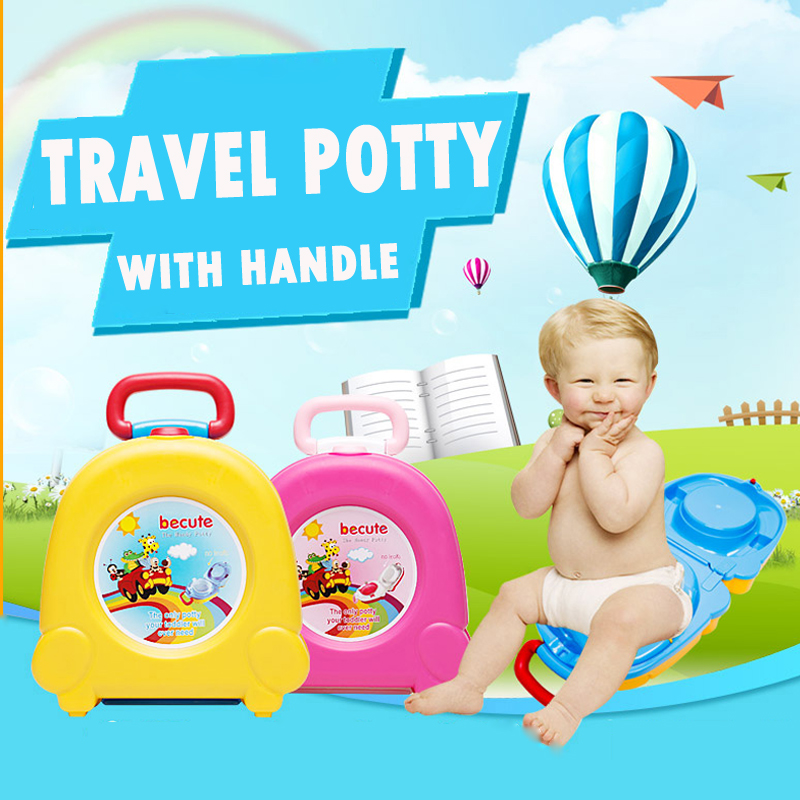 New Baby Girl Boy Portable Traveling Car Squatty Potty 25*23*12 Cm WC Toilet Urinal Yellow Pink Potty Trainers Seat Toilet