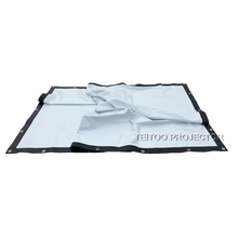 4,6x3,6 м большая наружная фильм пленка Передняя ручная проекция экран ПВХ мягкая бело-черная занавеска для образования активности