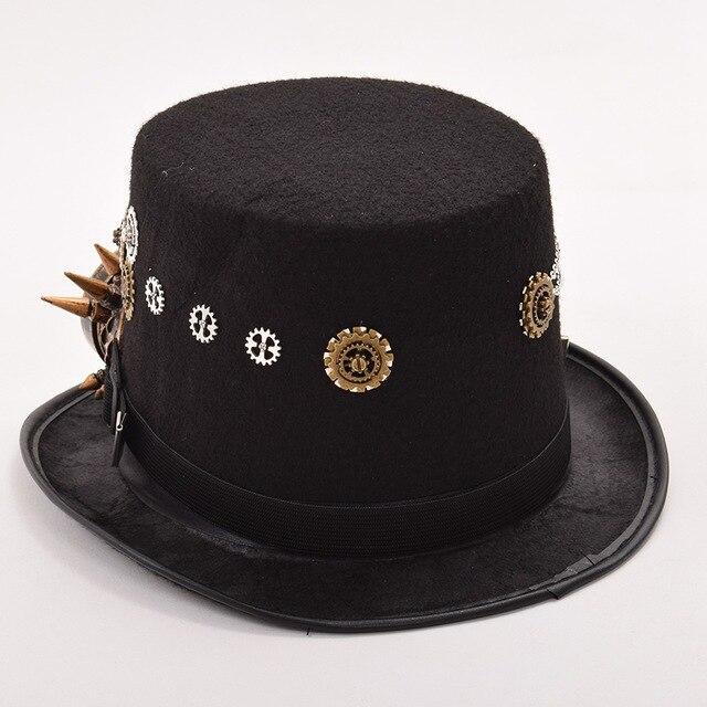 Шляпа в стиле стимпанк с очками в ассортименте вариант 5 2