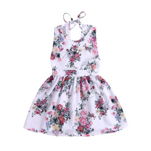 2019 Summer Girl Dress Princess Wedding Party Little Ceremony Flower Lace Backless Clothes