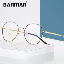 BANMAR Fashion Round Anti Blue Ray Glasses Men Computer Glasses Women Retro Blue Light Blocking Optical Frames Eyeglasses A2106 retro blue