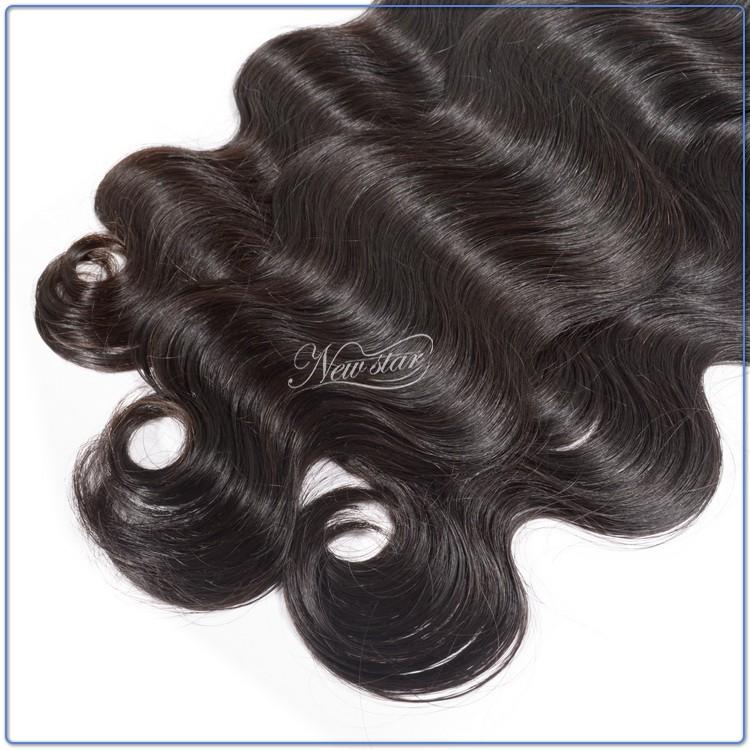 алиэкспресс новая звезда 3 пучки смешанные длины малайзии Девы человеческих волос, плетение тело волна естественный темно-коричневый цвет дешевой цене