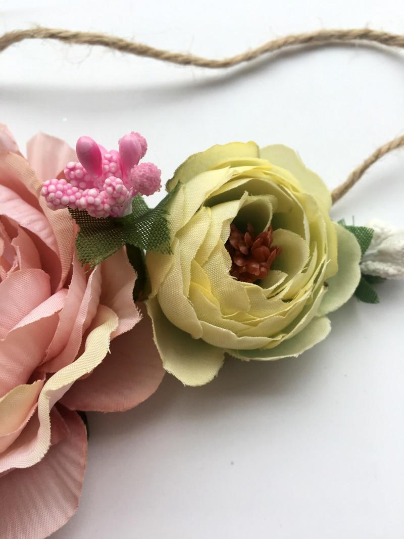Tippa Baby Headband Peony Fabric Flower Tieback Floral Bride