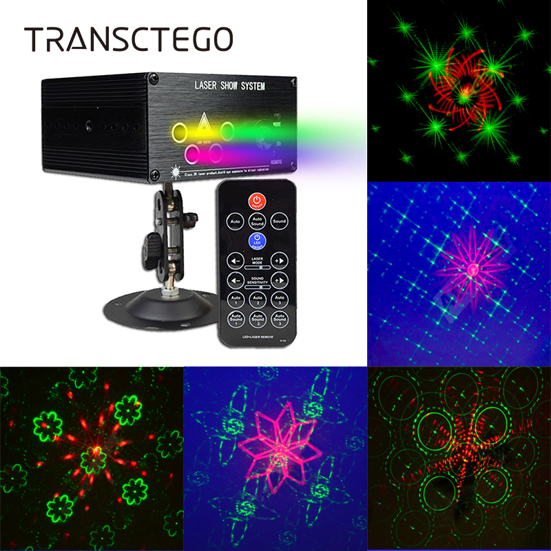 Led Disco Laser Light 120 Pattern Projector Lamp DJ Stage Lighting For Family Party Club Red Green Auto Sound Active Disco Light цены онлайн