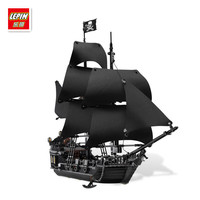 804Pcs LEPIN 16006 Pirates Of The Caribbean The Black Pearl Ship Model Building Kit Minifigure Blocks