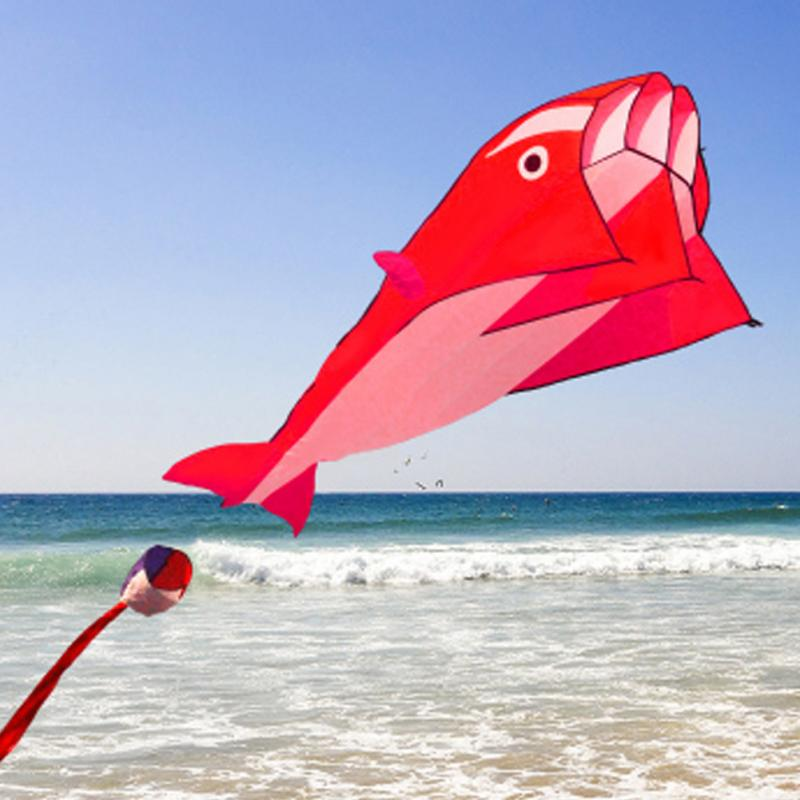 2018 new Huge 3D 1.2*2.1m Single Line Dolphin Sport Flying Kite Outdoor Activit