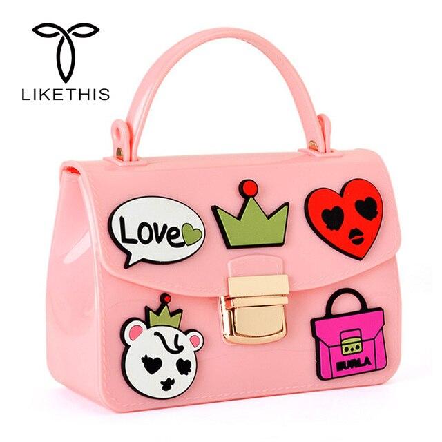 Woman Bag Famous Brands Women Handbag Shining Pu Jelly Boutique Tote Candy Transparent Fashion
