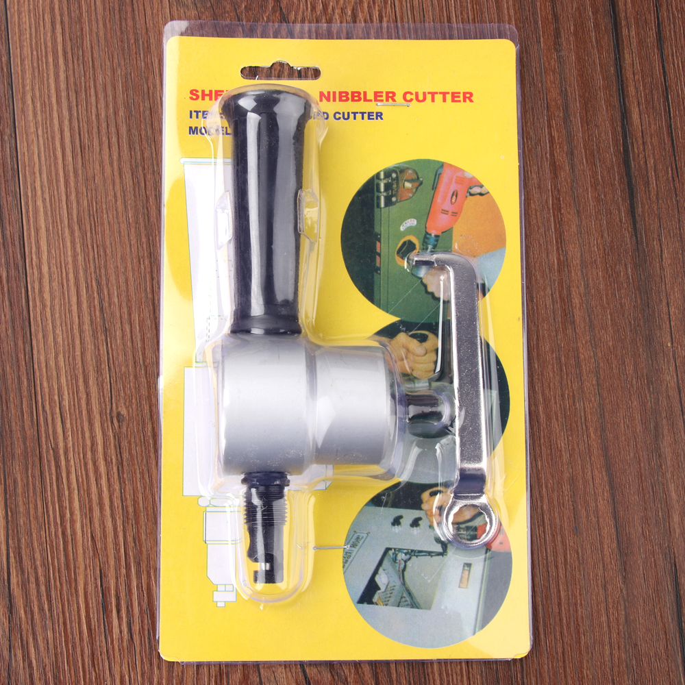 цена на Nibble Metal Cutting Double Head Sheet Tool Nibbler Saw Cutter Tool Drill Attachment Cutting Tool Power Tools in stock now